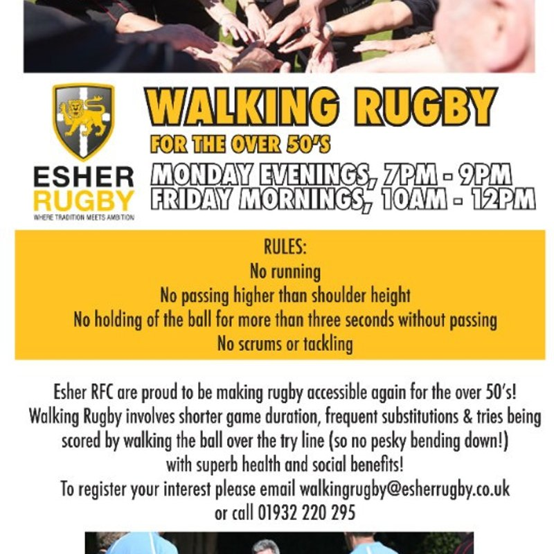 Walking Rugby is back