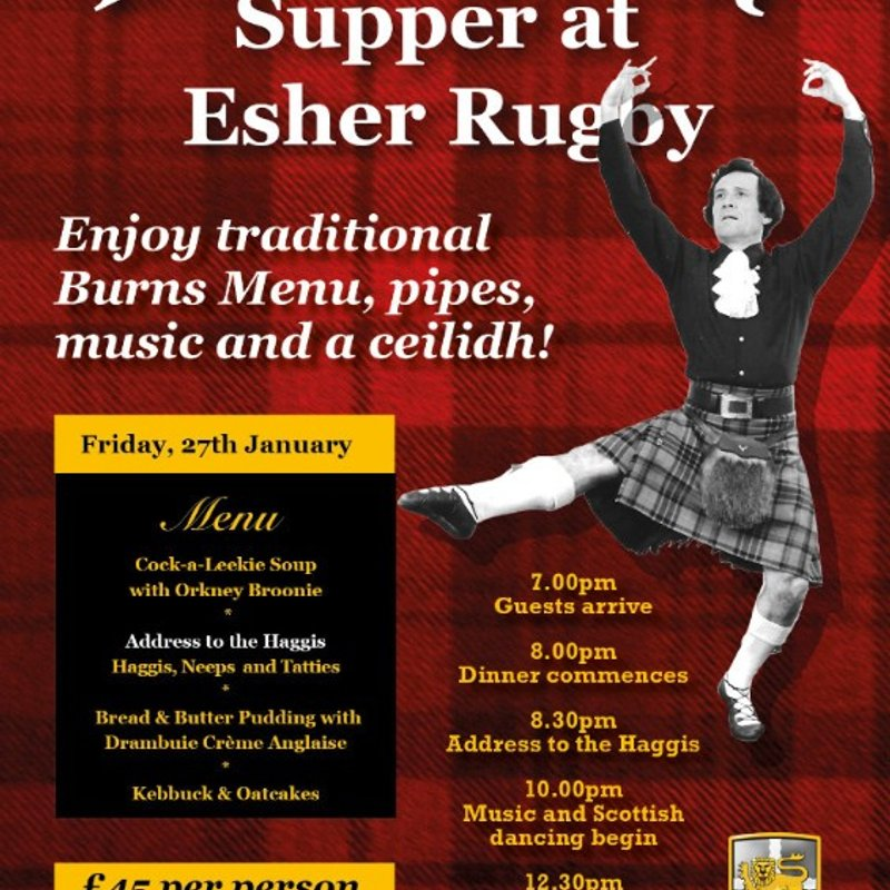 Burns Night Friday 27th January