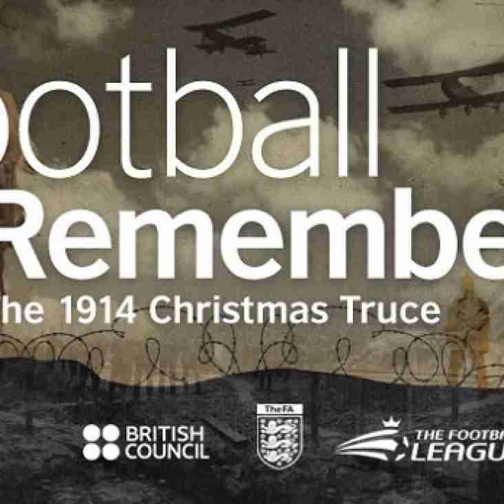 FOOTBALL REMEMBERS WW1
