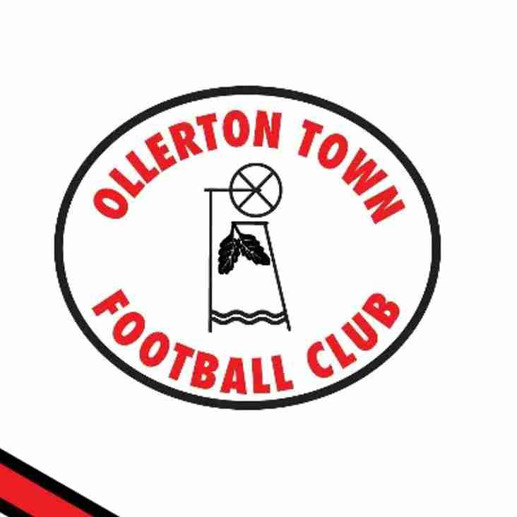 Ollerton Town Match Day Entrance Fees 2019-2020