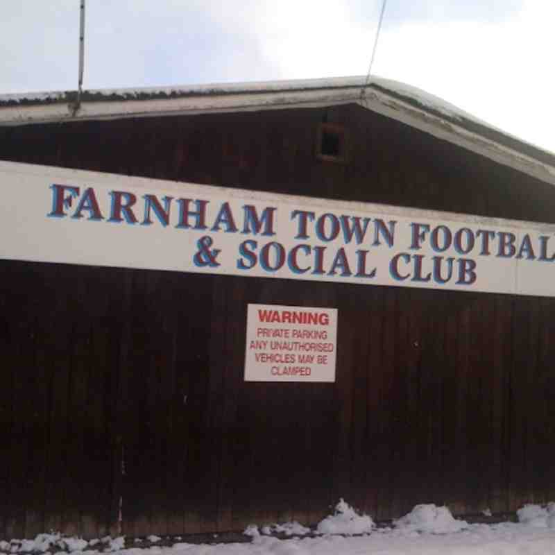 Friday 3rd December 2010 - Memorial Ground covered in snow