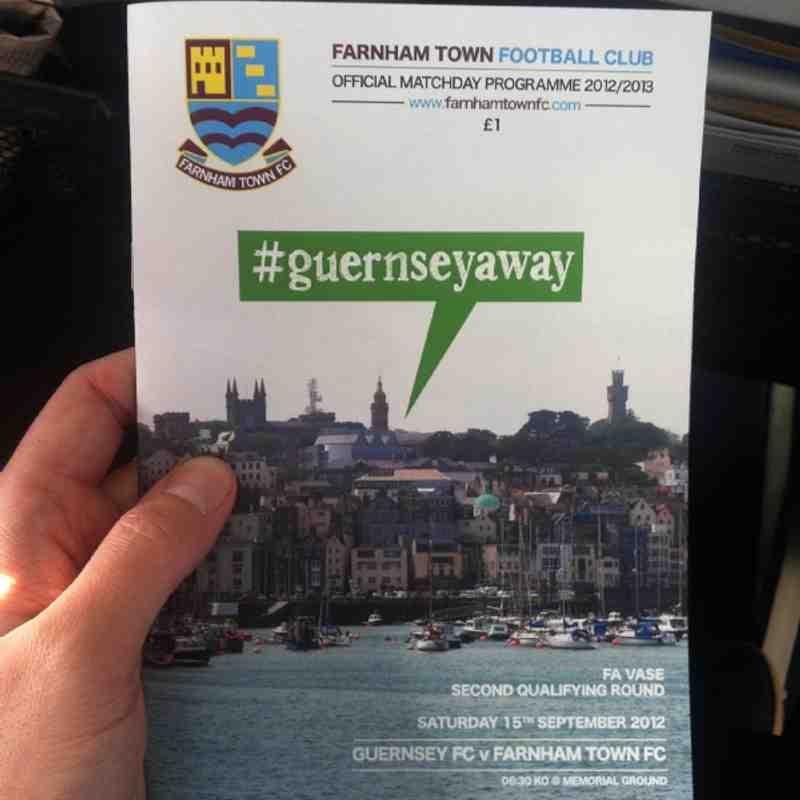 Saturday 15th September - Guernsey v Farnham Town (FA Vase Second Round Qualifying)