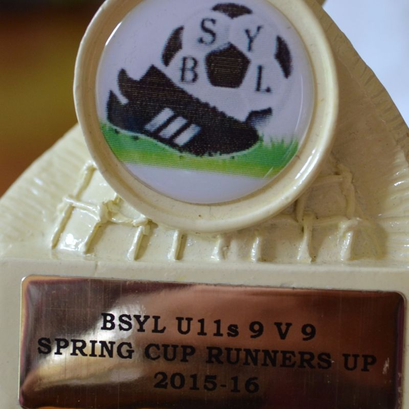 Shire U11's 9-a-side finish runners-up in the BSYL Spring Trophy League