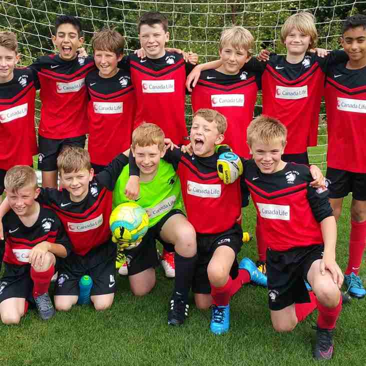 Shire U12 kick off the new season in AYL Division 2 with magnificent 7-0 win!