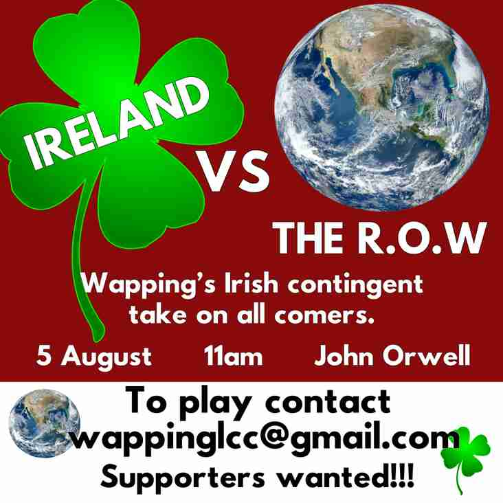 Wapping Irish versus the Rest of the World