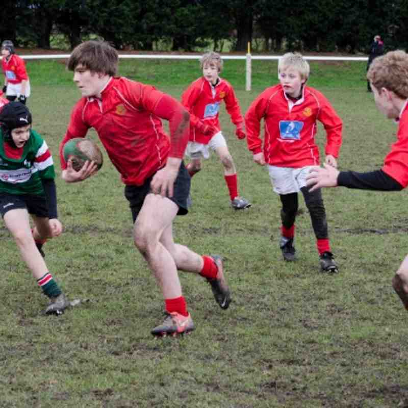 Rugby U13s v Wrexham 9th Dec 2012