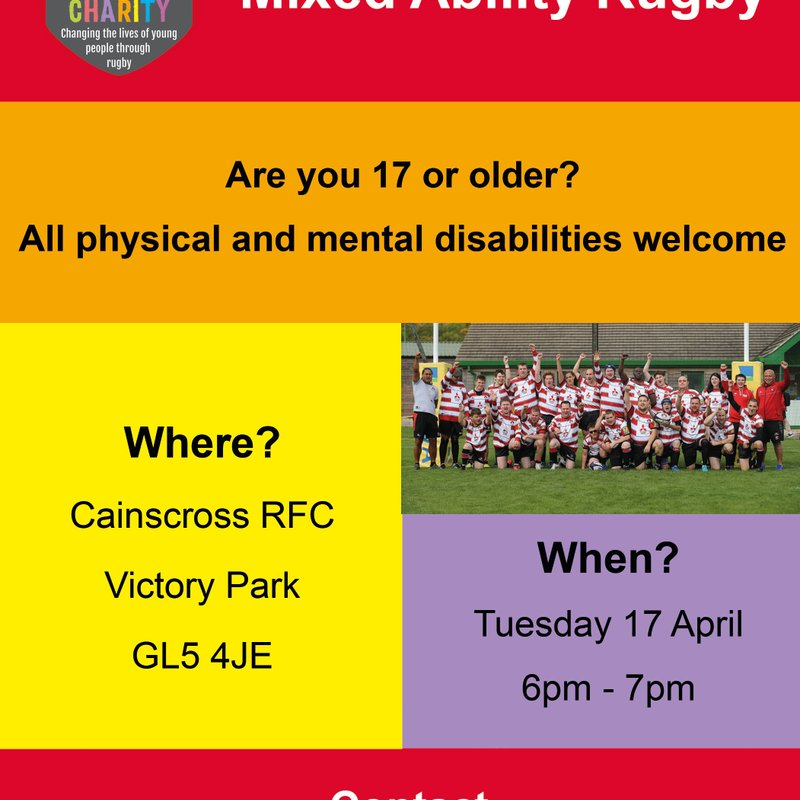 Cainscross Team up with Gloucester Rugby Community