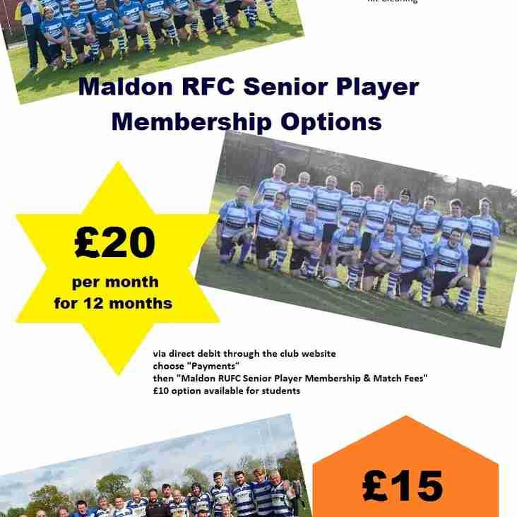 Senior Player Membership Options