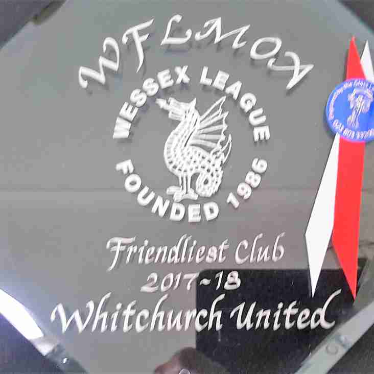 Wessex Team wins 'Friendliest Club award'