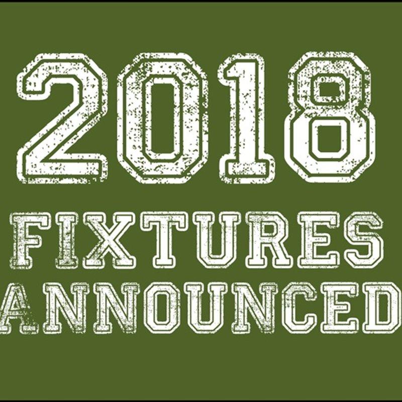 2018 Fixtures Announced