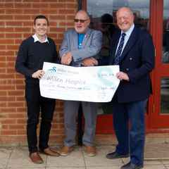 Club donation to Willen Hospice