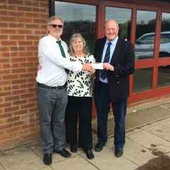 Club donation to Kirk Nokes Memorial Fund