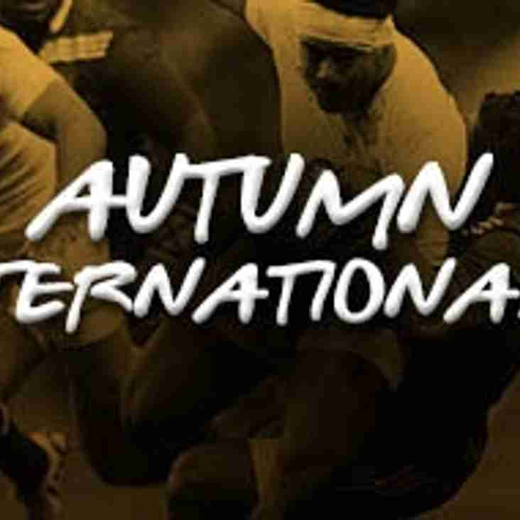 Twickenham International matches this autumn