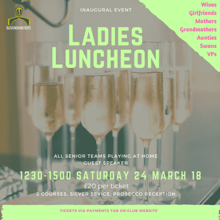 Inaugral Ladies Luncheon