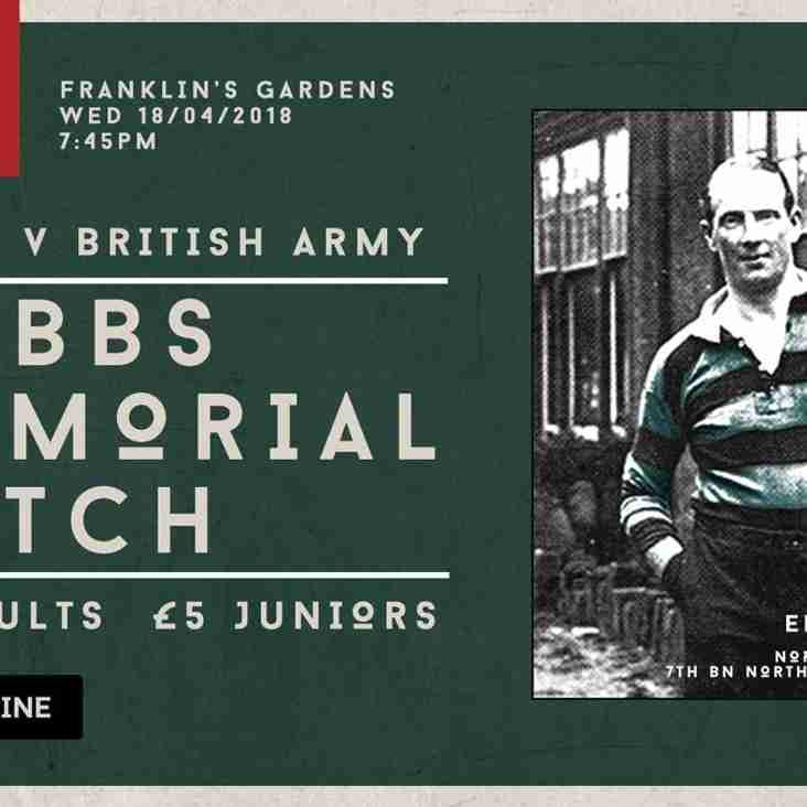 Northampton Saints versus the British Army