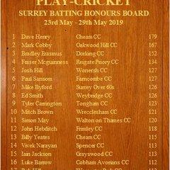 Surrey Honours Boards