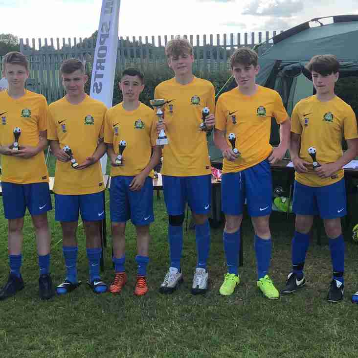 Bardwell U14 Win Easington 2018 Tournament