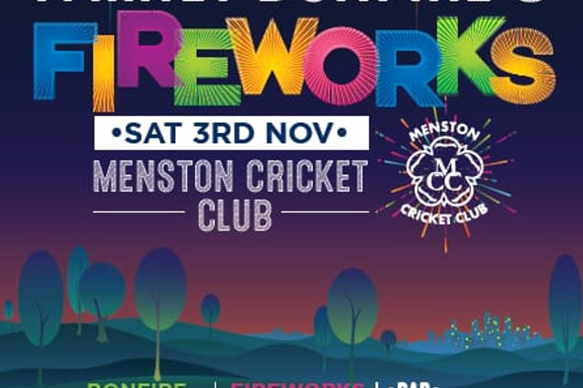 Menston bonfire and fireworks Display