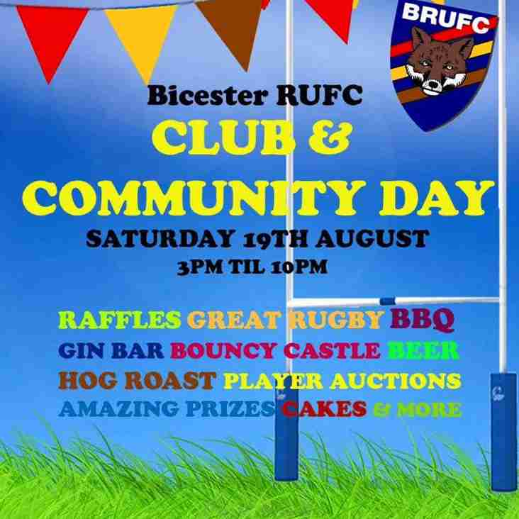 Bicester RUFC Club & Community Day 19th August 2017