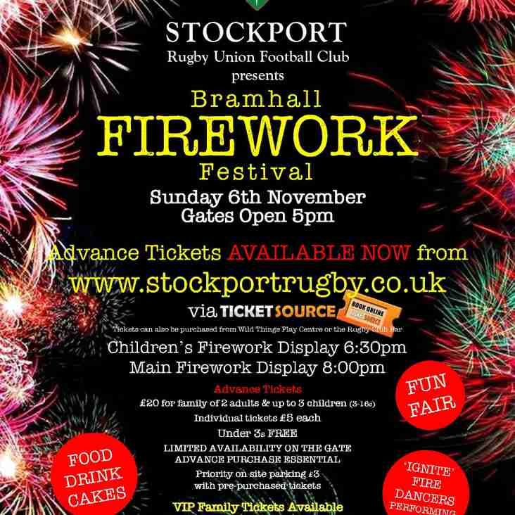Fireworks Display at Stockport RUFC