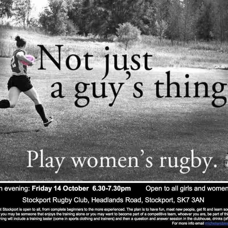 Womens Rugby to start at Stockport RUFC
