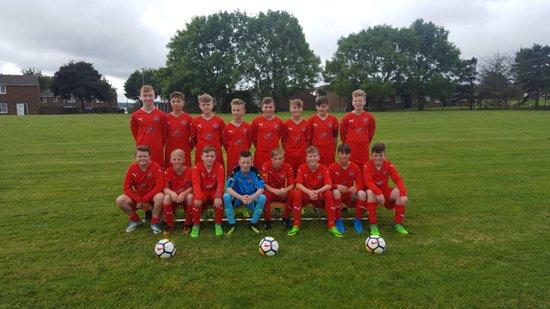 Consett AFC Red Star U14s.