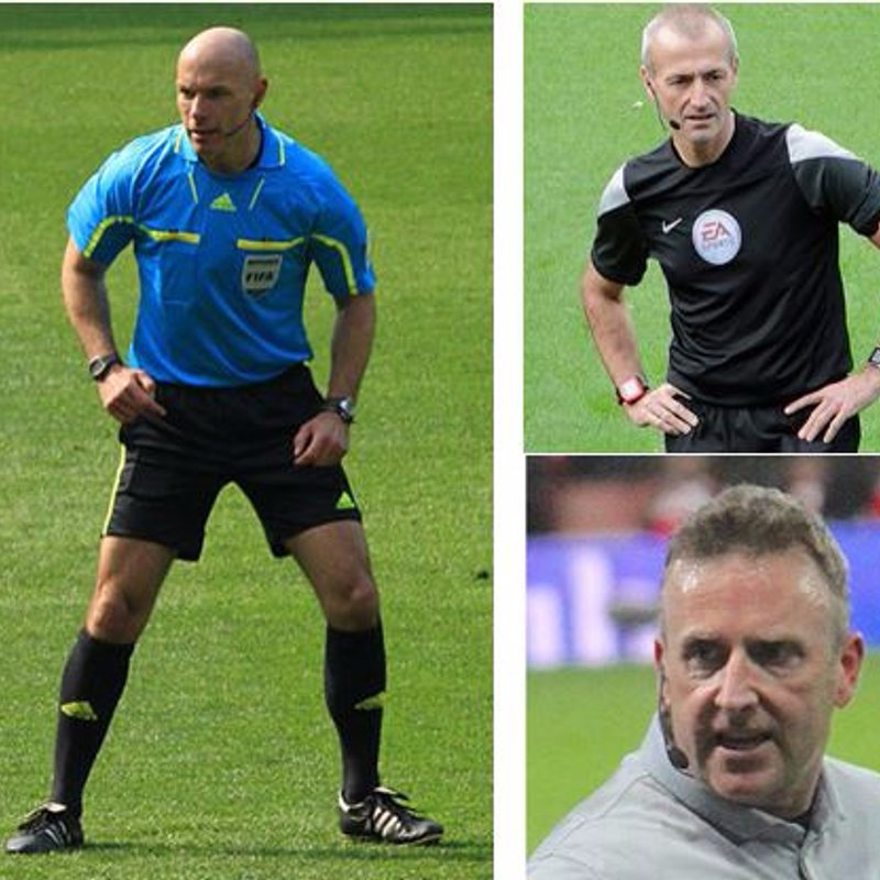 Howard Webb, Martin Atkinson and Jon Moss