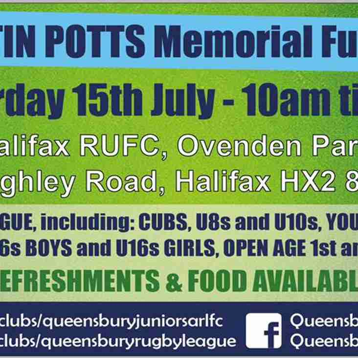 Martin Potts Memorial Fun Day
