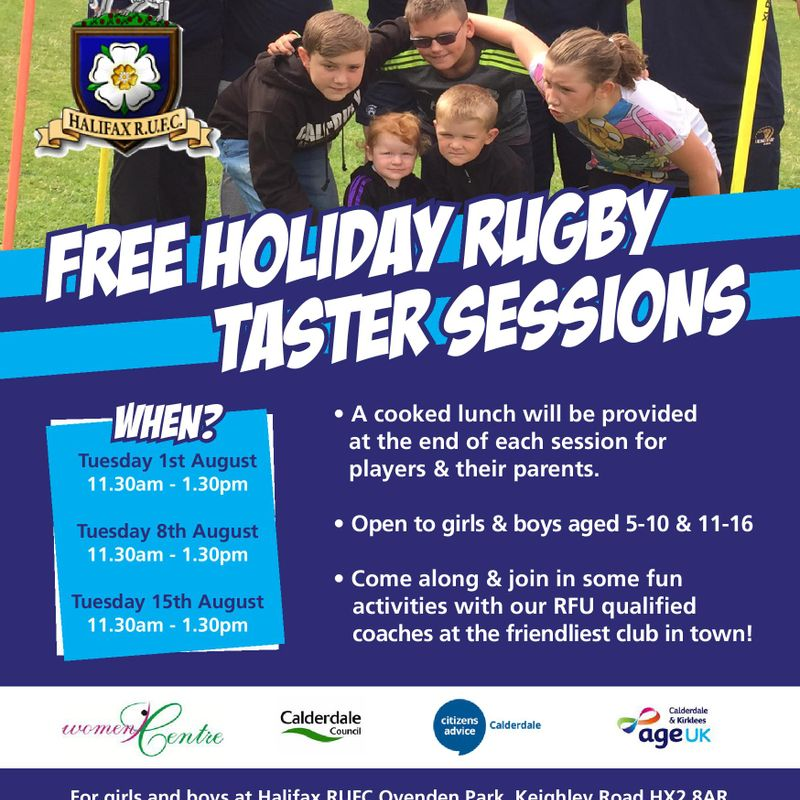 FREE rugby sessions at Halifax RUFC