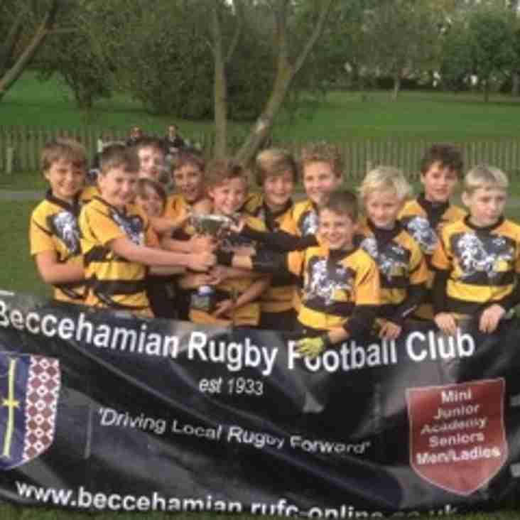 U10s Cup Champions at Becces