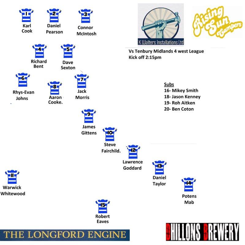 First team vs Tenbury