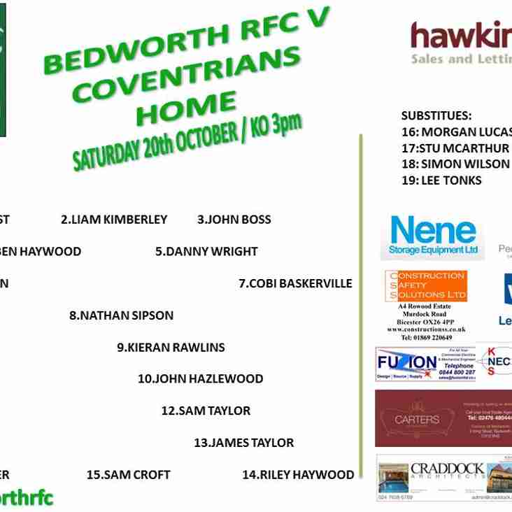 Bedworth vs Coventrians