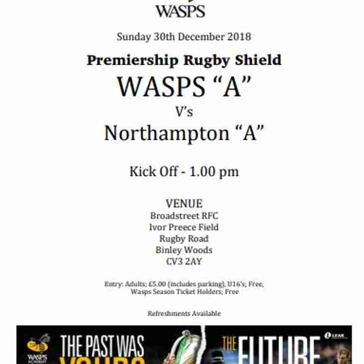 "WASPS ""A"" vs NORTHAMPTON ""A"""