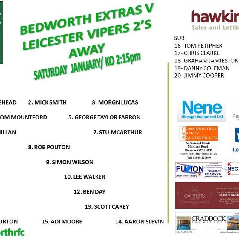Bedworth Extras team is up