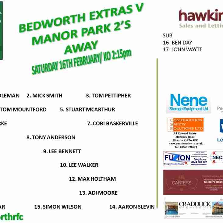 Bedworth Extras vs Manor park 2's
