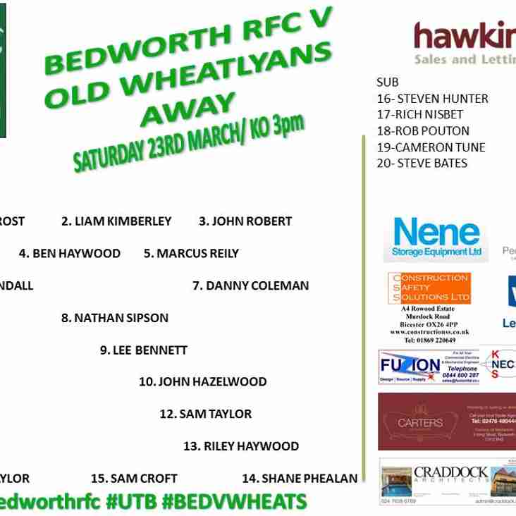 Bedworth RFC team is up