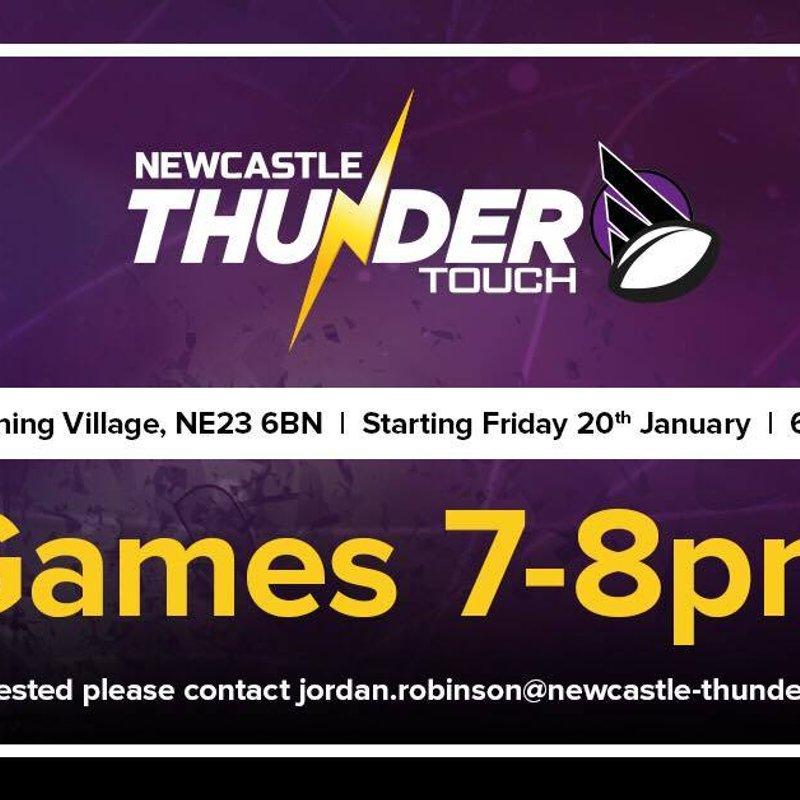 Newcastle Thunder Touch Starts In Cramlington