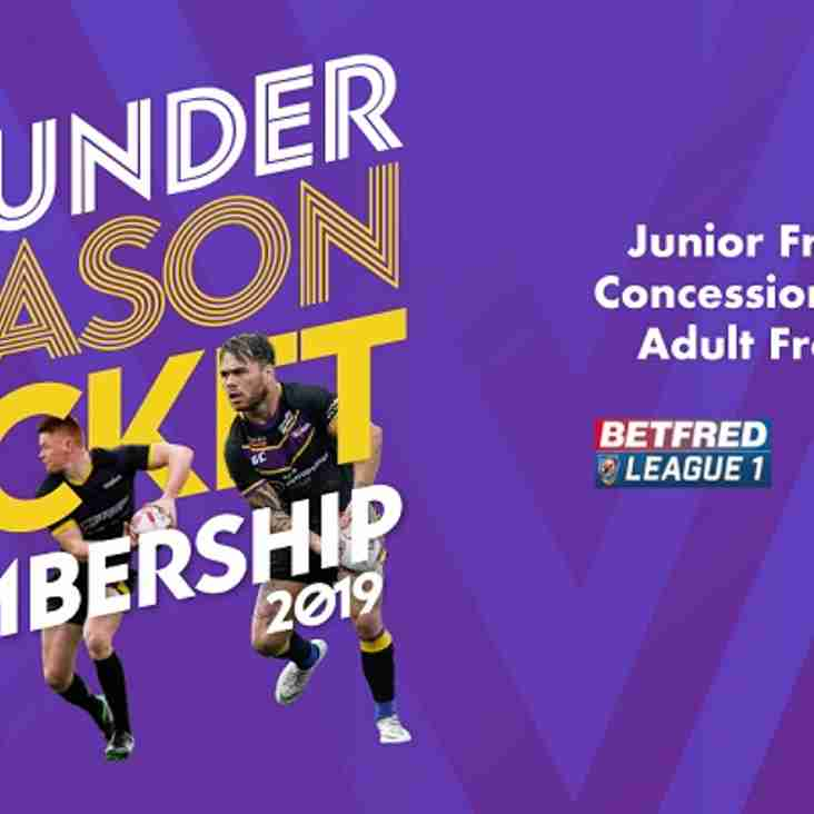Buy A Newcastle Thunder Season Ticket and Earn Cashback for the Rockets