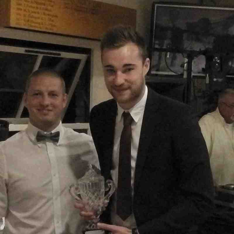 Gary and Luke, POY winner from Supporters and Players