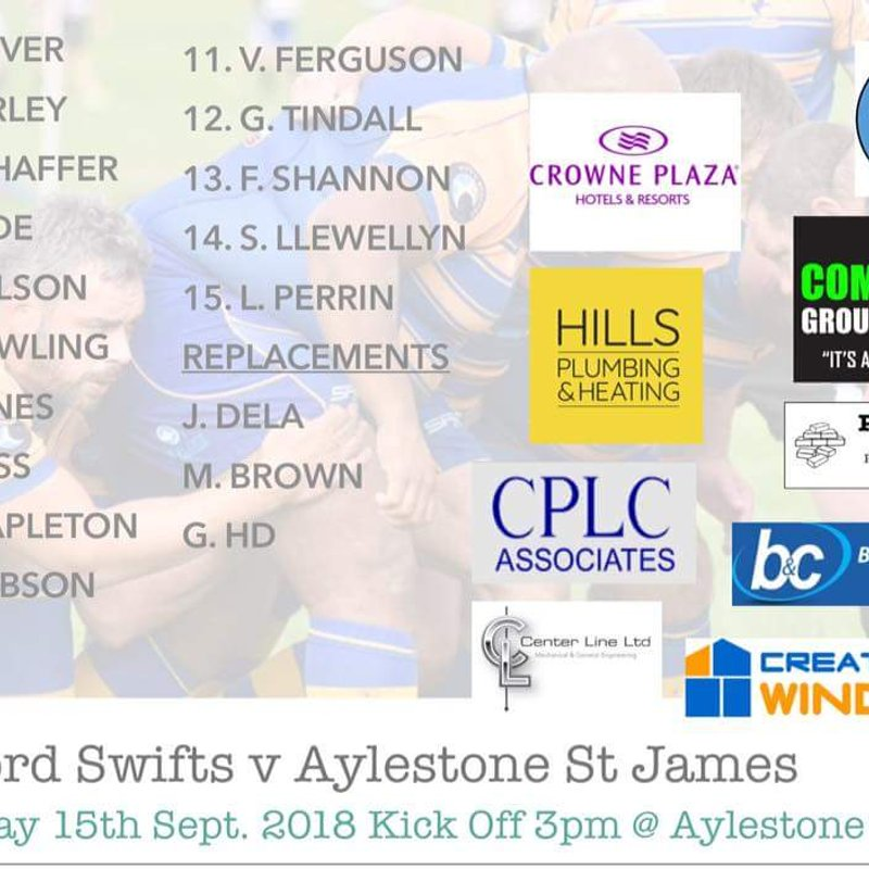 Swifts XV vs Aylestone St James