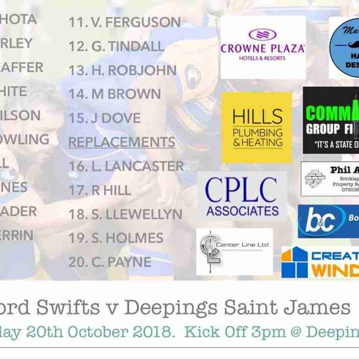 Swifts XV vs Deepings