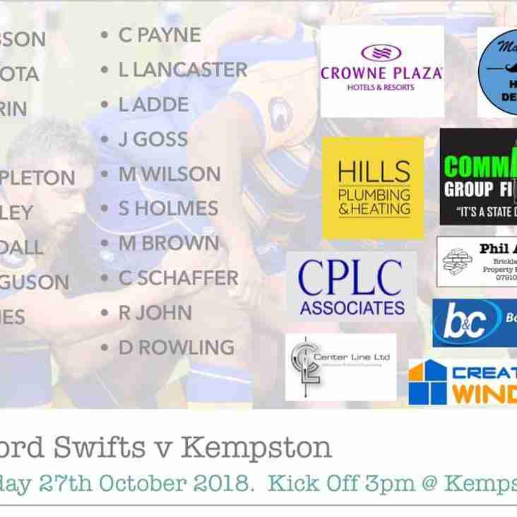 Swifts XV vs Kempston