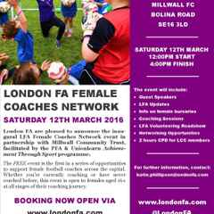 LONDON FA FEMALE COACHES NETWORK EVENT
