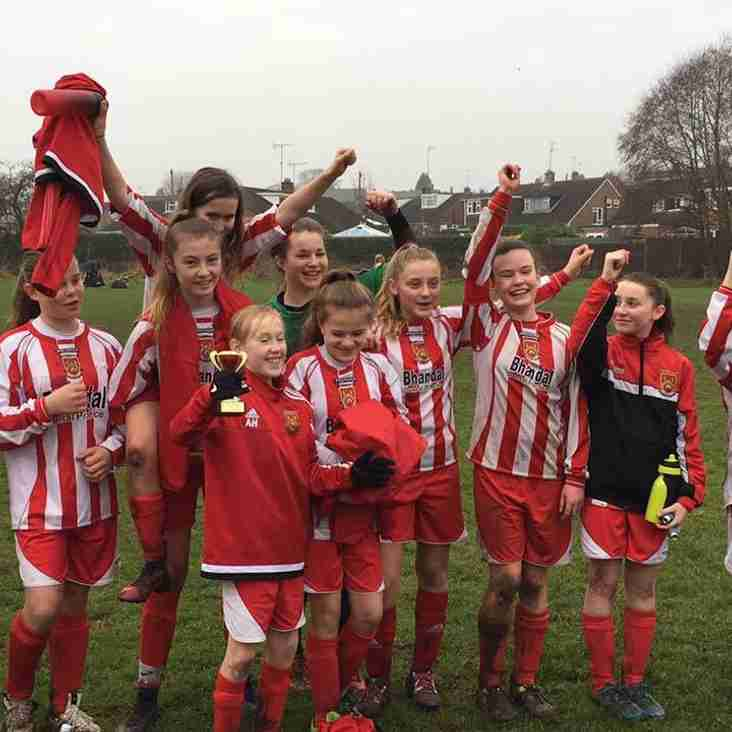 Under 13s Girls Looking Forward to Cup Final Date!
