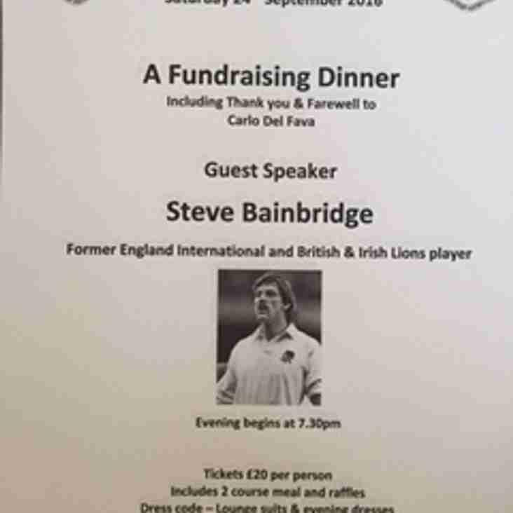 Westoe RFC Fundraising Dinner on Saturday 24th September 2016