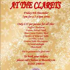 Celebrate Your Christmas Party at Clarets!