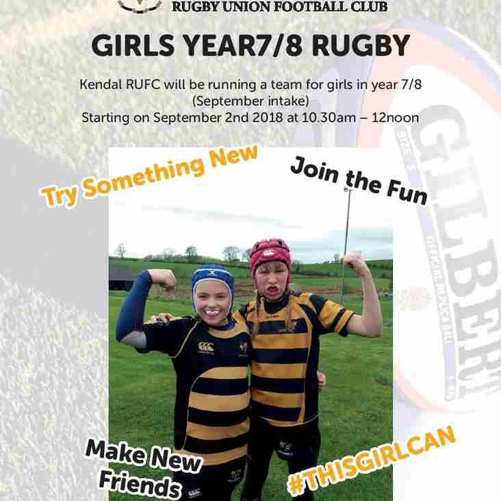 Girls Rugby is coming to Kendal!