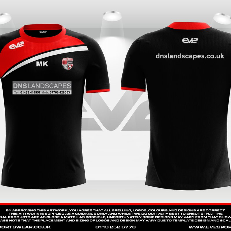 Reserve Team Training T-Shirts Sponsor - DNS Landscapes