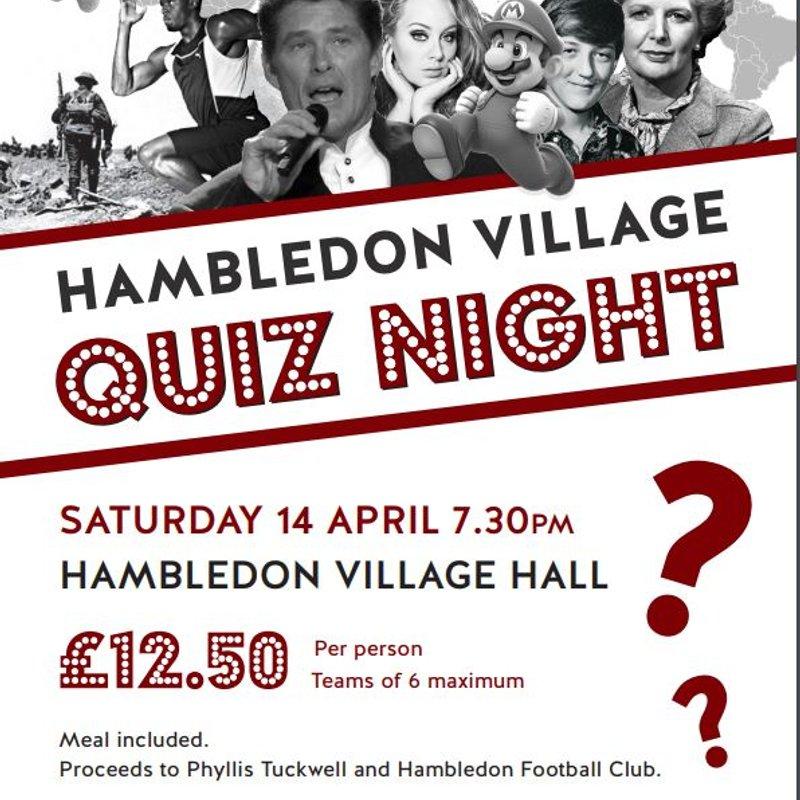 Hambledon Quiz 14th April