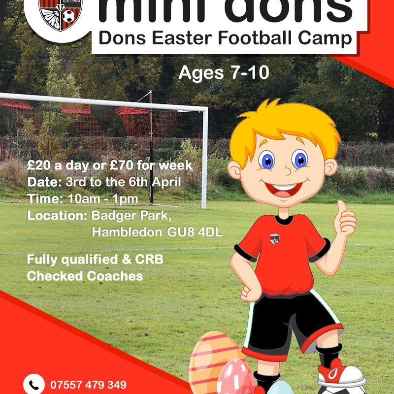 Mini Dons Easter  Football Camp